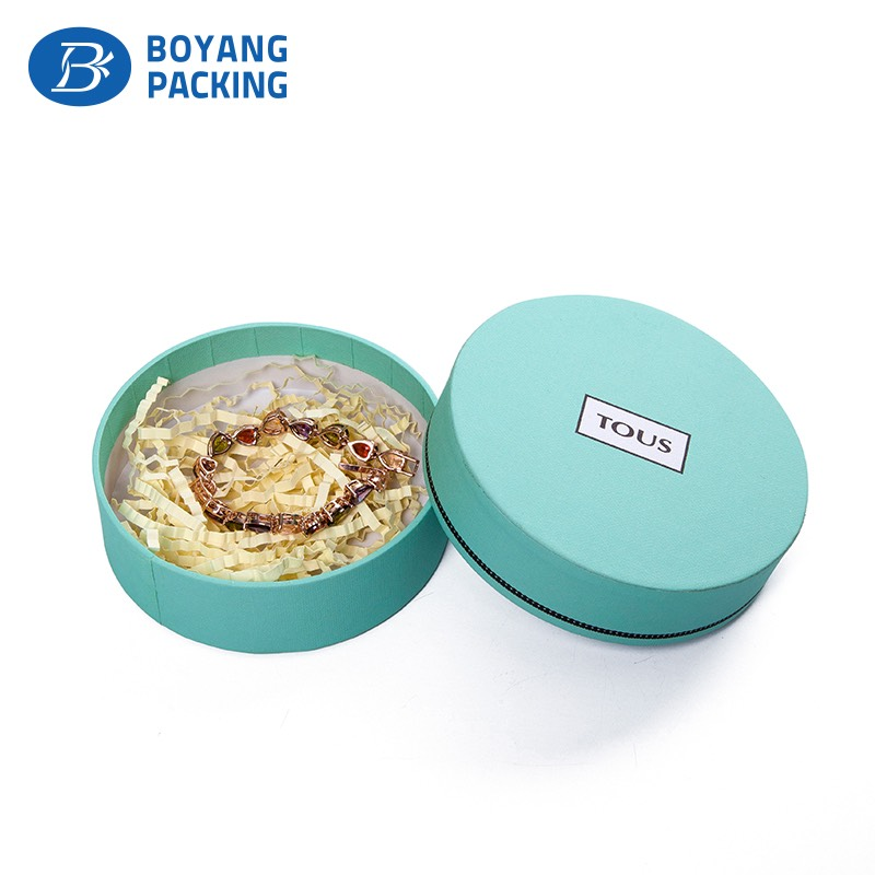 High quality different color circular jewelry box Jewelry box