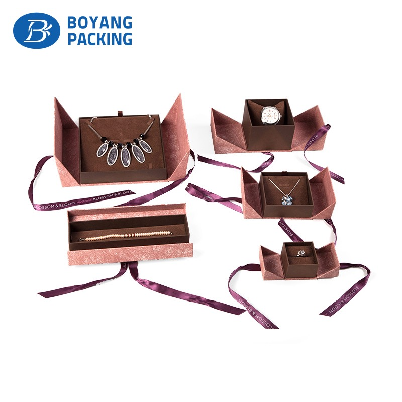 jewelry box with ribbon open