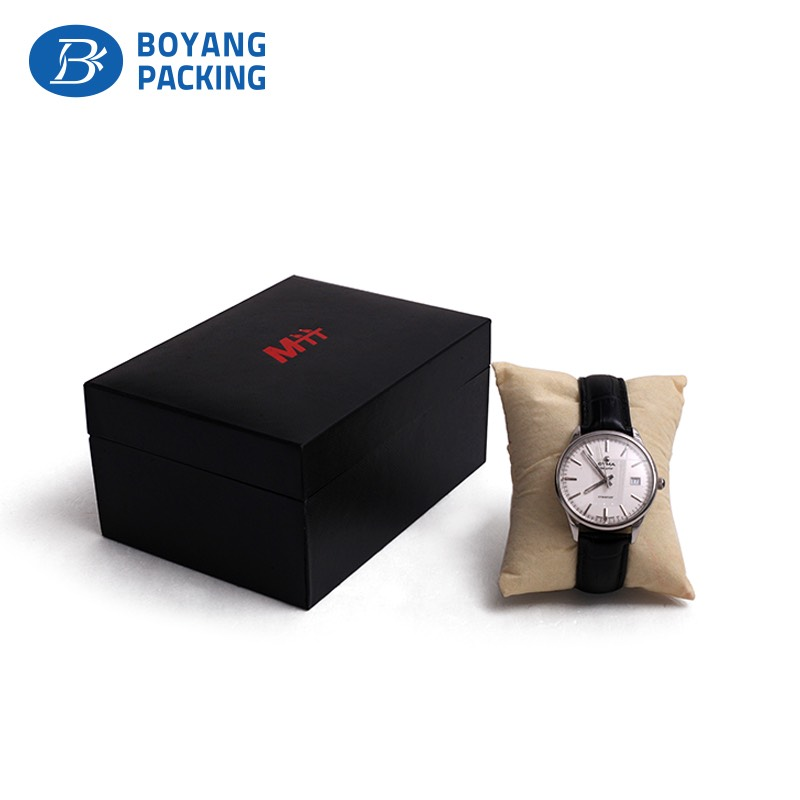 custom high quality black watch box factory