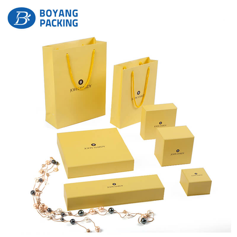 Custom yellow paper jewelry boxes, earing gift box manufacturers