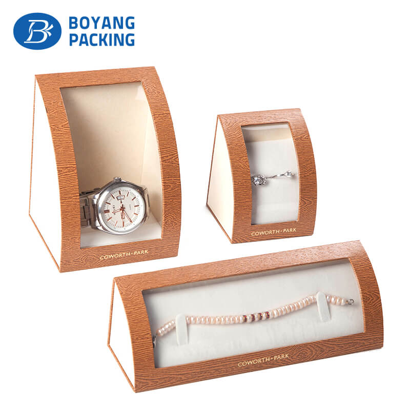 Customized paper box for watches, radian corner watch box factory