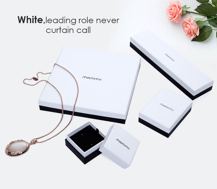 white paper jewelry packaging box manufacturer